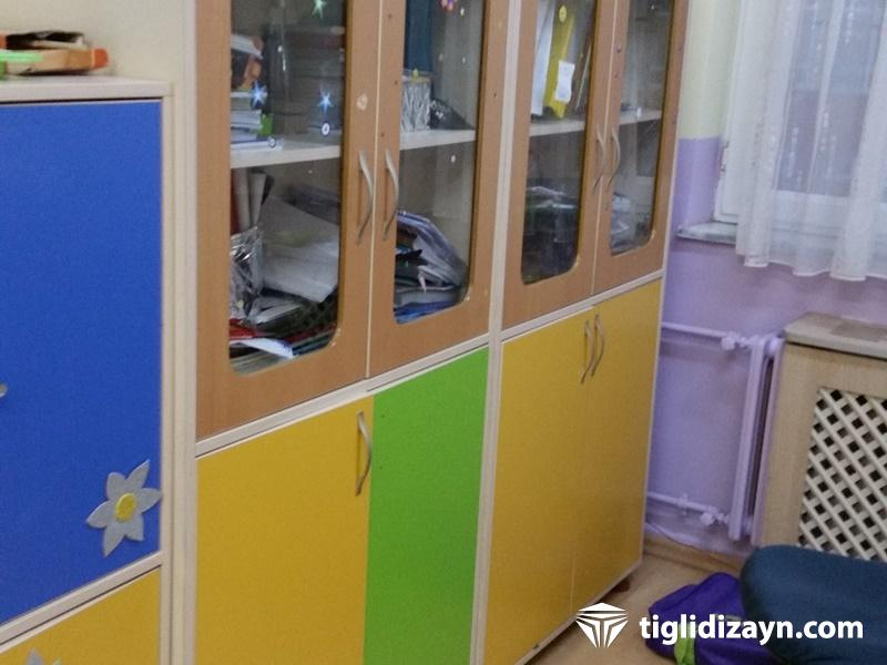 Okul ahşap dolap mobilya dizayn örnekleri