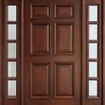 Kare kutulu ahşap kapı modeli