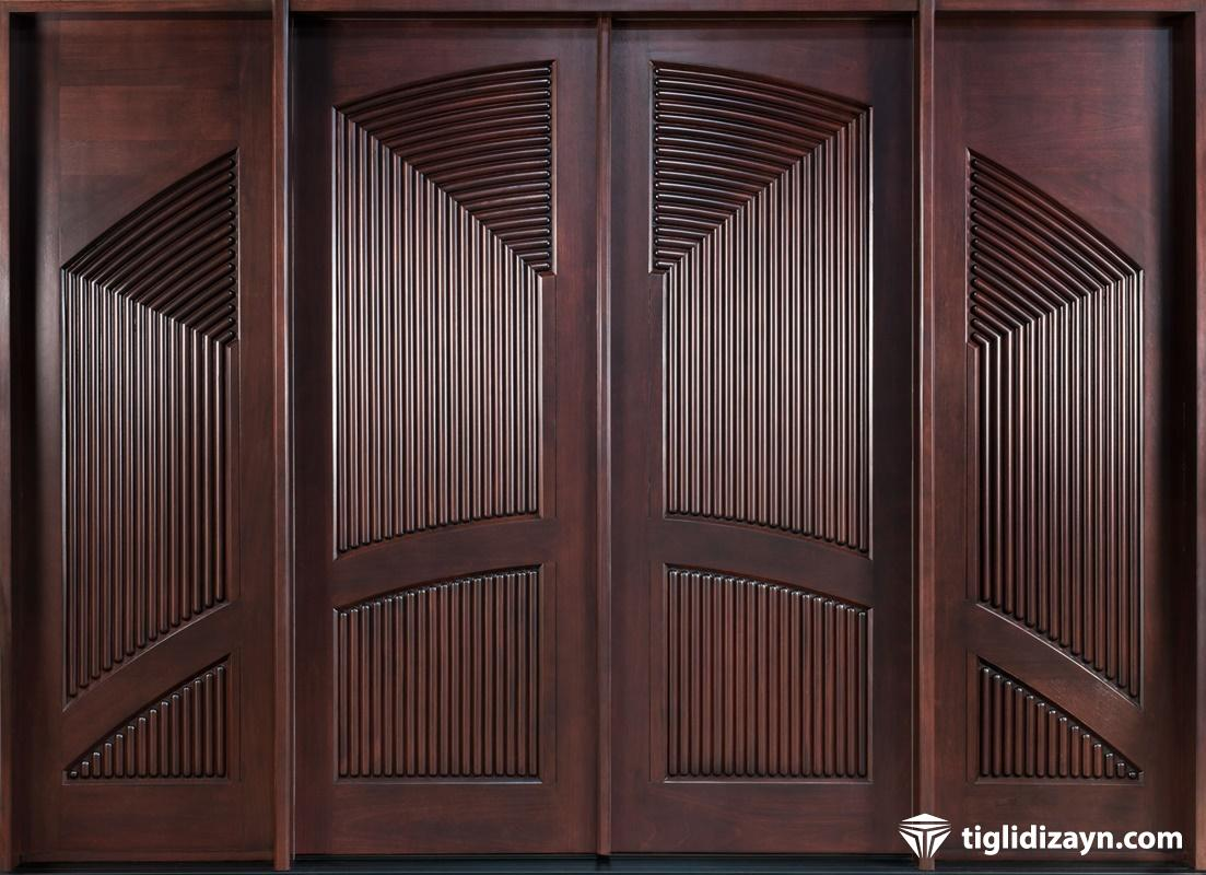 Cnc kesim modern ahşap kapılar