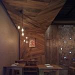 Değişik ve farklı En modern ahşap restaurant dizayn resimleri