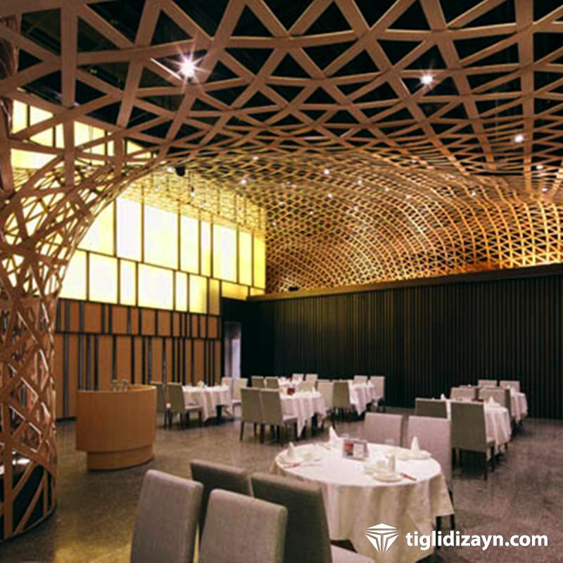 Restaurant tavan dizaynları 2