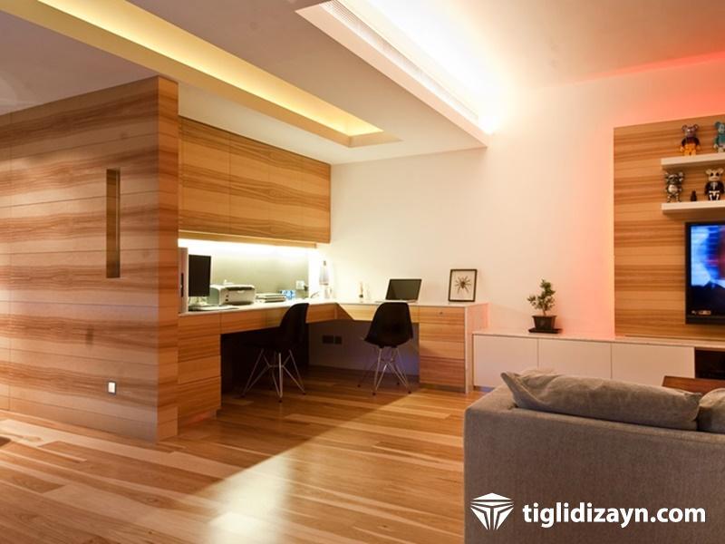 2016 Oturma odası ahşap dizayn örnekleri