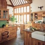 En şık ahşap daire ve mutfak dekorasyonları
