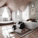 Ahşap daire iç dizayn çalışmaları