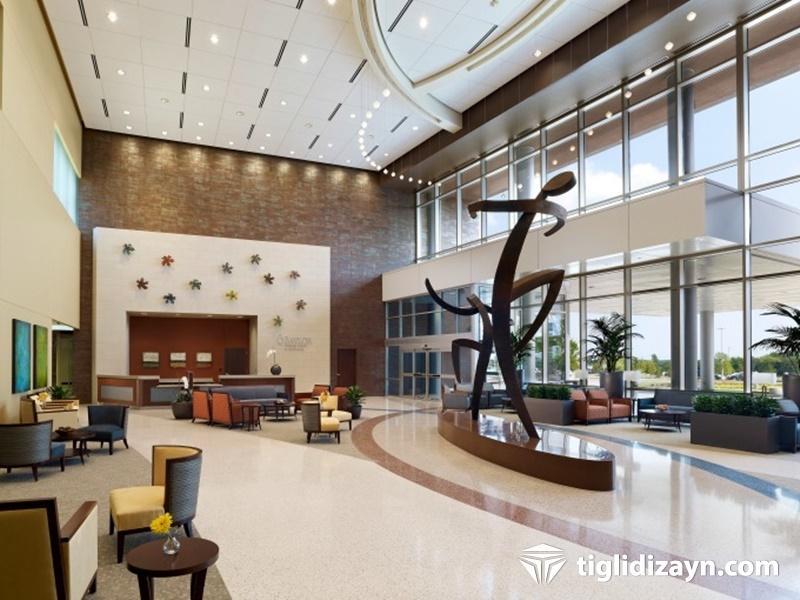 Hastane içi bekleme salonu dizayn resimleri 3
