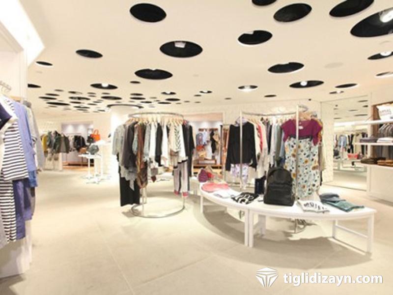 Şık giyim mağaza dizaynı
